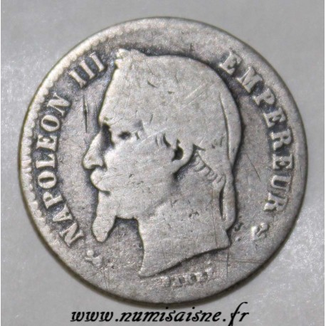 FRANCE - KM 814 - 50 CENT 1865 K - Bordeaux - TYPE NAPOLEON III