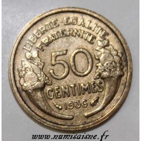 FRANCE - KM 894 -50 CENTIMES 1936 - TYPE MORLON
