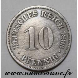 GERMANY - KM 12 - 10 PFENNIG 1893 A - Berlin