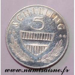 AUSTRIA - KM 2889 - 5 SHILLING 1964