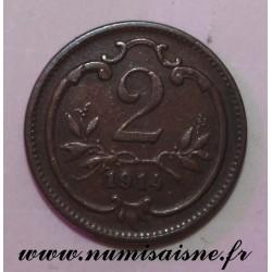AUSTRIA - KM 2801 - 2 HELLER 1914 - FRANZ JOSEPH I