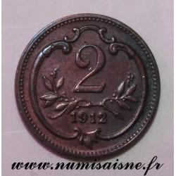 AUSTRIA - KM 2801 - 2 HELLER 1912 - FRANZ JOSEPH I