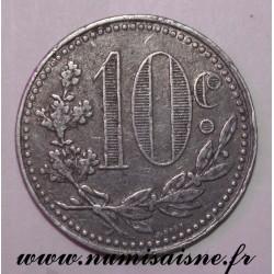 ALGÉRIE - KM TnA5 - 10 CENTIMES 1918 - CHAMBRE DE COMMERCE D'ALGER