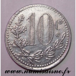 ALGERIA - KM TnA5 - 10 CENTIMES 1919 - COMMERCE CHAMBER OF ALGER