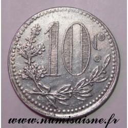 ALGÉRIE - KM TnA5 - 10 CENTIMES 1919 - CHAMBRE DE COMMERCE D'ALGER