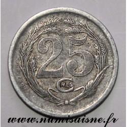 ALGERIA - KM TnE3 - 25 CENTIMES 1921 - COMMERCE CHAMBER OF ORAN
