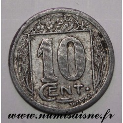 ALGERIA - KM TnD2 - 10 CENTIMES 1922 - COMMERCE CHAMBER OF CONSTANTINE