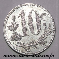 ALGERIA - KM TnA5 - 10 CENTIMES 1916 - COMMERCE CHAMBER OF ALGER