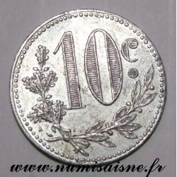 ALGÉRIE - KM TnA5 - 10 CENTIMES 1916 - CHAMBRE DE COMMERCE D'ALGER