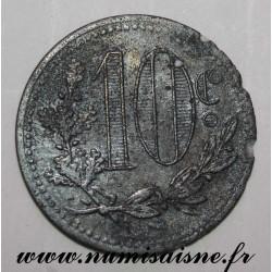 ALGÉRIE - KM TnA7 - 10 CENTIMES 1917 - CHAMBRE DE COMMERCE D'ALGER