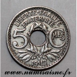 FRANCE - KM 865a - 5 CENTIMES 1917 - TYPE LINDAUER - Large Module