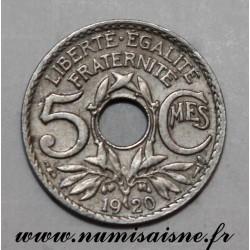 GADOURY 170 - 5 CENTIMES 1920 - TYPE LINDAUER - KM 875