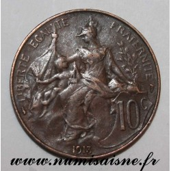 FRANCE - KM 843 - 10 CENTIMES 1913 - TYPE DUPUIS