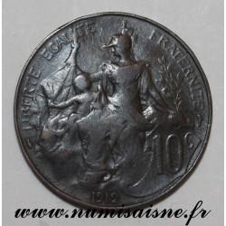 FRANCE - KM 843 - 10 CENTIMES 1912 - TYPE DUPUIS