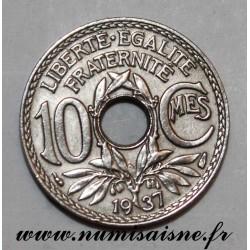 FRANCE - KM 866a - 10 CENTIMES 1937 - TYPE LINDAUER