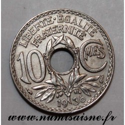 FRANCE - KM 866a - 10 CENTIMES 1936 - TYPE LINDAUER