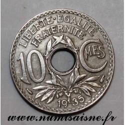 FRANCE - KM 866a - 10 CENTIMES 1935 - TYPE LINDAUER
