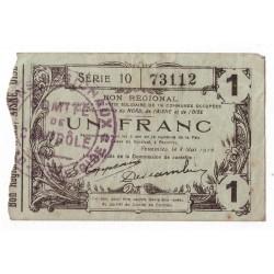 59 - 02 - 60 NORD AISNE OISE - 1 FRANC 08.05.1916 - TTB