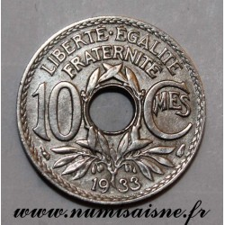 FRANCE - KM 866a - 10 CENTIMES 1933 - TYPE LINDAUER