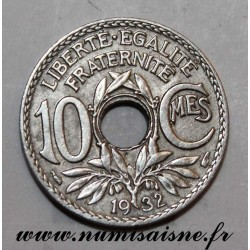 FRANCE - KM 866a - 10 CENTIMES 1932 - TYPE LINDAUER