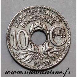 FRANCE - KM 866a - 10 CENTIMES 1928 - TYPE LINDAUER