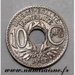 FRANCE - KM 866a - 10 CENTIMES 1920 - TYPE LINDAUER