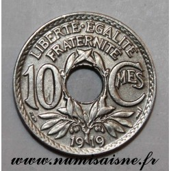 FRANCE - KM 866a - 10 CENTIMES 1919 - TYPE LINDAUER