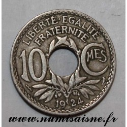 FRANCE - KM 866a - 10 CENTIMES 1924 - Poissy - TYPE LINDAUER