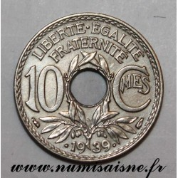 FRANCE - KM 889 - 10 CENTIMES •1939• - TYPE LINDAUER