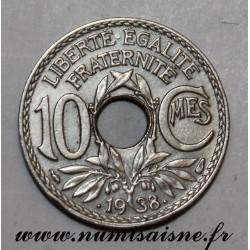 FRANCE - KM 889.1 - 10 CENTIMES •1938• TYPE LINDAUER