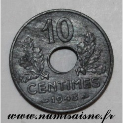 FRANCE - KM 898 - 10 CENTIMES 1943 - TYPE FRENCH STATE - LARGE MODULE