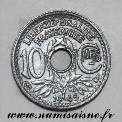 FRANCE - KM 906 - 10 CENTIMES 1945 B - Beaumont le Roger - TYPE LINDAUER - SMALL MODULE