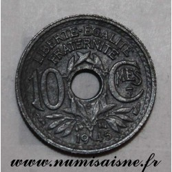 FRANCE - KM 906 - 10 CENTIMES 1945 - TYPE LINDAUER - SMALL MODULE