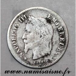 FRANCE - KM 808 - 20 CENTIMES 1867 BB - Strasbourg - TYPE NAPOLÉON III