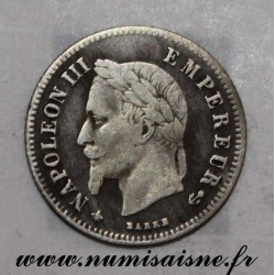 FRANCE - KM 805 - 20 CENTIMES 1866 A - Paris - TYPE NAPOLÉON III