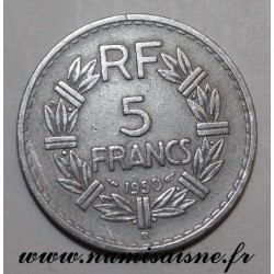 FRANCE - KM 888 - 5 FRANCS 1950 B - Beaumont le Roger - TYPE LAVRILLIER