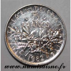 FRANKREICH - KM 926a - 5 FRANCS 1982 - TYP SÄMANN