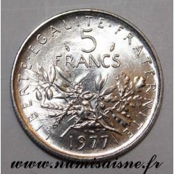GADOURY 771 - 5 FRANCS 1977 - TYPE SEMEUSE - KM 926a