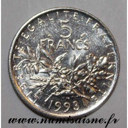 FRANCE - KM 926a - 5 FRANCS 1993 - TYPE SOWER