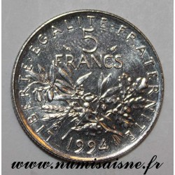 FRANCE - KM 926a - 5 FRANCS 1994 - TYPE SOWER - Mintmark Dolphin
