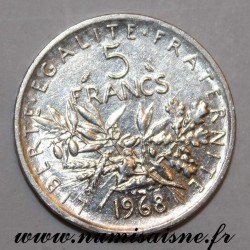 FRANCE - KM 926a - 5 FRANCS 1968 - TYPE SOWER