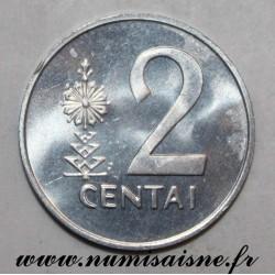 LITHUANIA - KM 86 - 2 CENTAI 1991