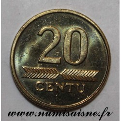 LITHUANIA - KM 107 - 20 CENTU 1999