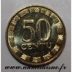 LITHUANIA - KM 108 - 50 CENTU 1998