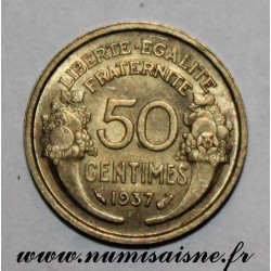 FRANCE - KM 894 - 50 CENTIMES 1937 - TYPE MORLON