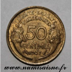 FRANCE - KM 914 - 50 CENTIMES 1947 - TYPE MORLON BRONZE ALUMINIUM
