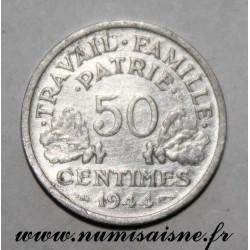FRANCE - KM 914 - 50 CENTIMES 1944 - TYPE BAZOR
