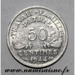 FRANCE - KM 914 - 50 CENTIMES 1944 C - Castelsarrasin - TYPE BAZOR
