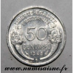 FRANCE - KM 894 - 50 CENTIMES 1945 B - Beaumont le Roger - TYPE MORLON