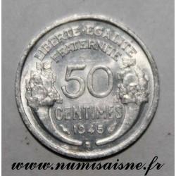 GADOURY 426a - 50 CENTIMES 1945 B - Beaumont le Roger - TYPE MORLON - KM 894